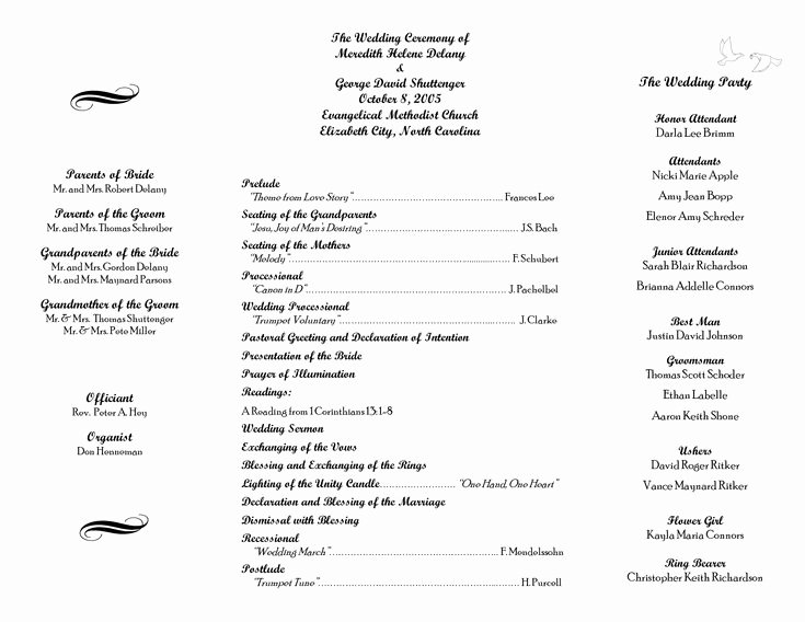 Free Church Program Template Unique 17 Best Ideas About Wedding Program Samples On Pinterest