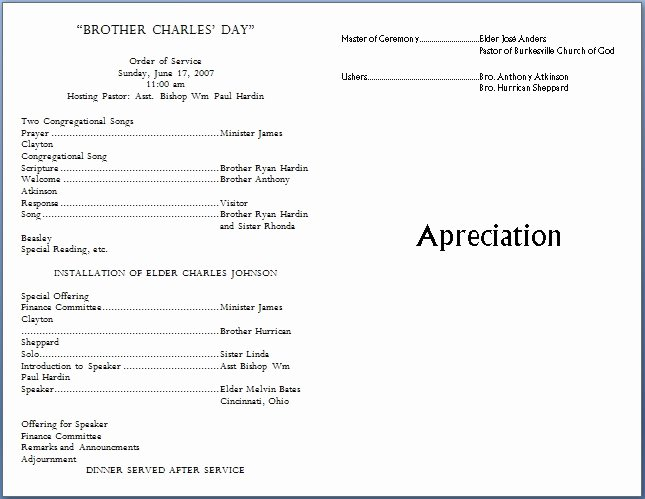 Free Church Programs Template Awesome Church Bulletin Templates