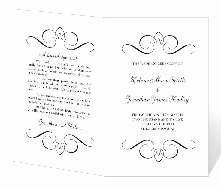 Free Church Programs Template Best Of Wedding Program Template Printable Instant Download