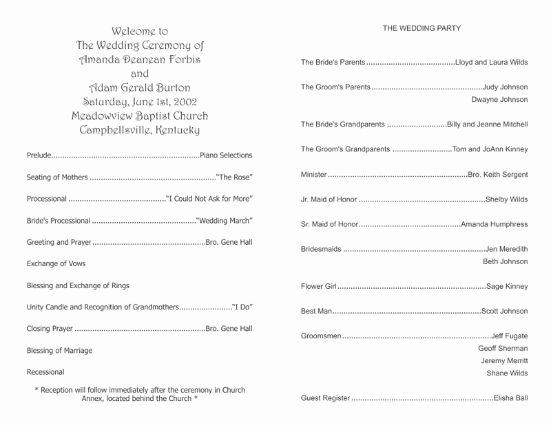 Free Church Programs Template Elegant Wedding Program Templates Wedding Programs Fast