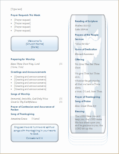 Free Church Programs Template Fresh Church Program Template for Ms Word and Writer