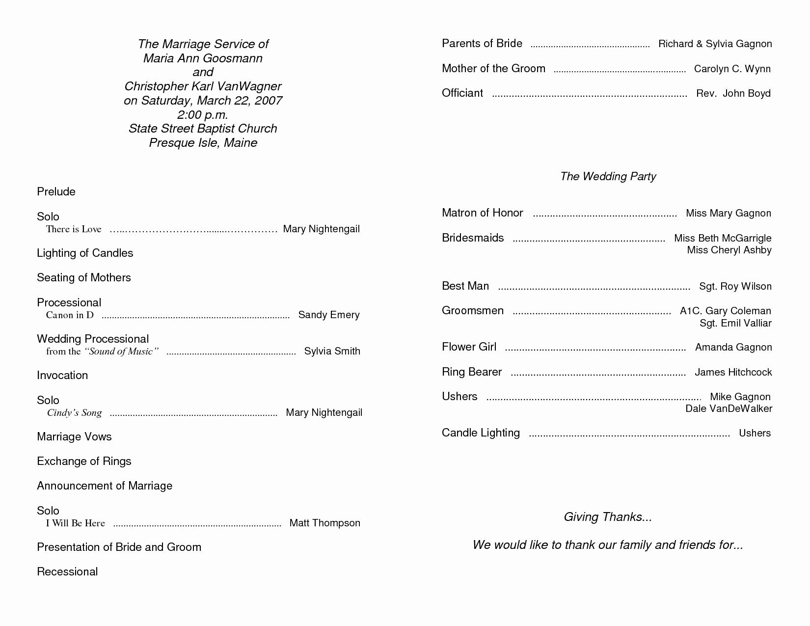 Free Church Programs Template Fresh Free Printable Church Program Template