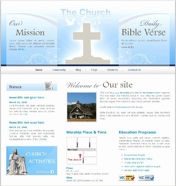 Free Church Programs Template Inspirational 27 Free Church Website themes & Templates