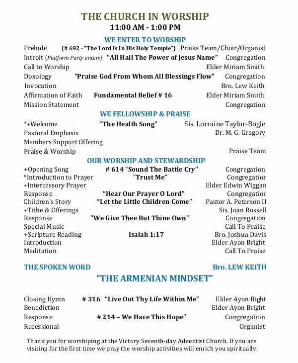 Free Church Programs Template Luxury 10 Church Program Templates Pdf
