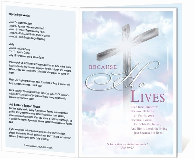 Free Church Programs Template Luxury Church Bulletin Templates Free Templates Resume