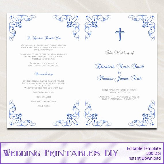 Free Church Programs Template Luxury Wedding Church Program Template Free software