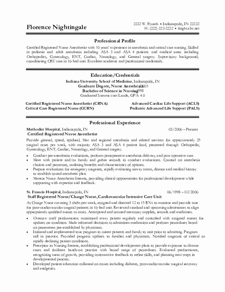 Free Cna Resume Templates Fresh Cna Resume Samples Download Free Templates In Pdf and Word