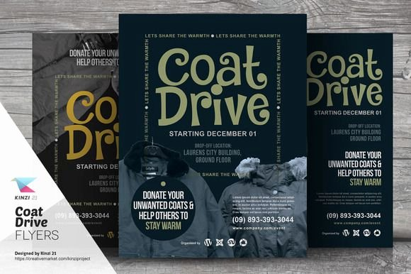 Free Coat Drive Flyer Templates Elegant Coat Drive Flyer Templates by Kinzi21 On Creative Market
