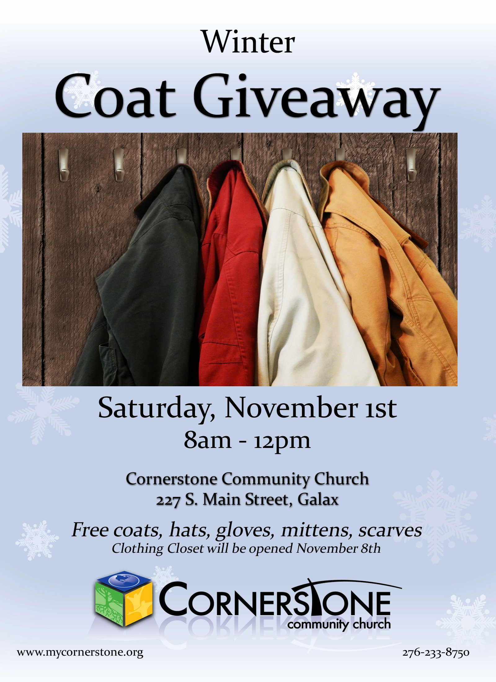 Free Coat Drive Flyer Templates Elegant Cornerstone Coat Drive Cornerstone Munity Church
