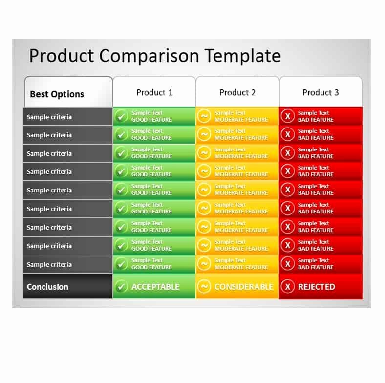 Free Comparison Chart Template Beautiful 40 Great Parison Chart Templates for Any Situation