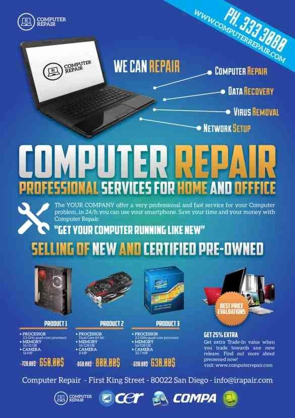 Free Computer Repair Flyer Template Beautiful Puter Repair Flyers Word Excel Samples