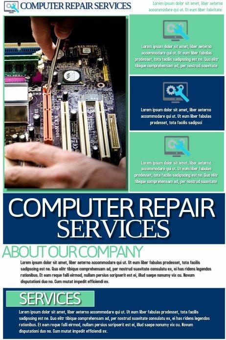 Free Computer Repair Flyer Template Elegant Puter Repair Services Template