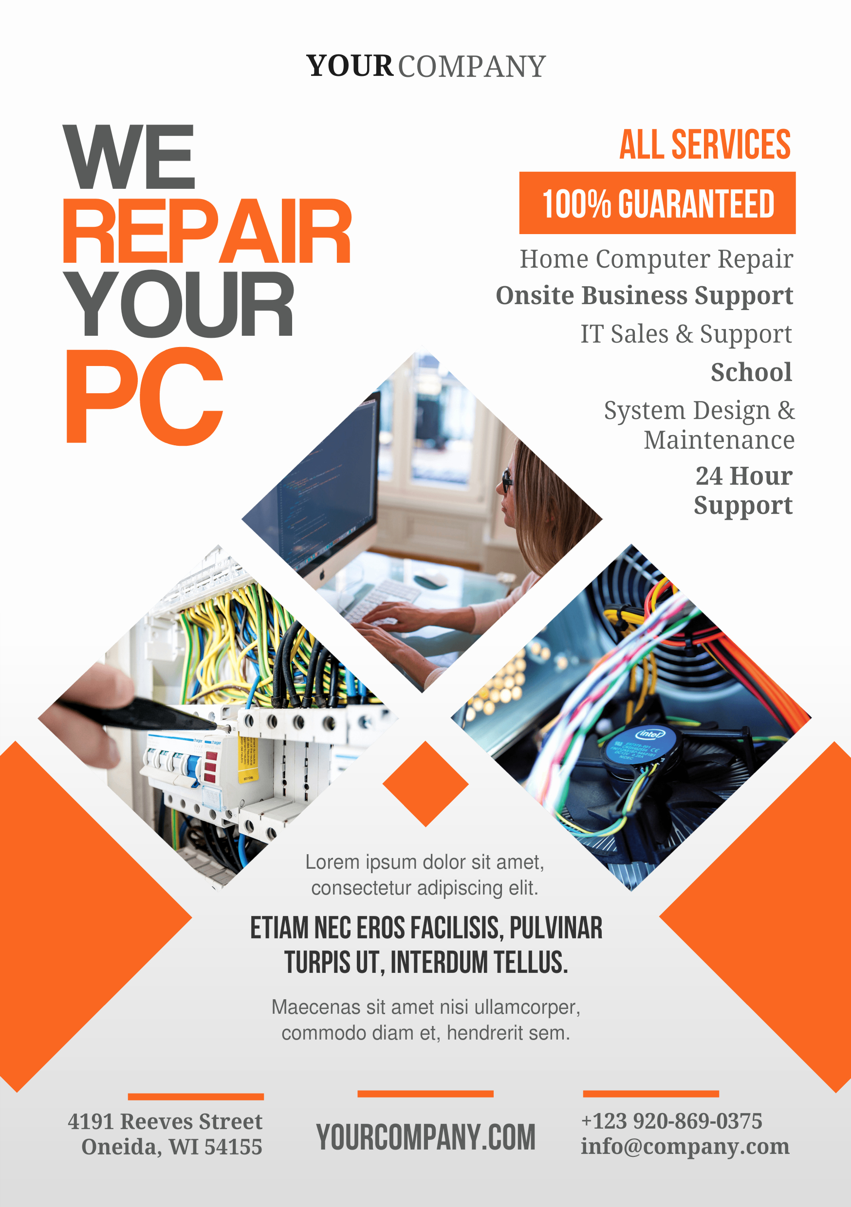 Free Computer Repair Flyer Template New Pin by Leadzmachine Video Mercials On A5 Promotional