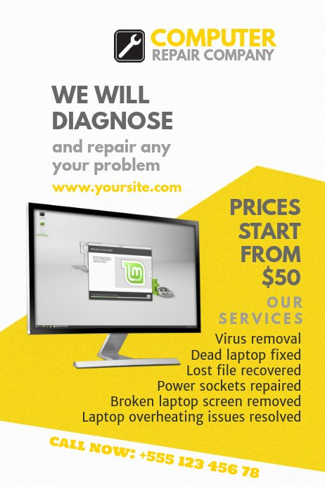 Free Computer Repair Flyer Template New Puter Repair Flyer Templates