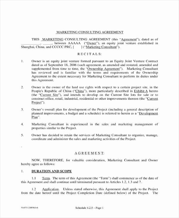 Free Consulting Agreement Template Elegant 12 Marketing Consulting Agreement Templates Pdf Word