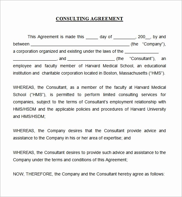Free Consulting Agreement Template Elegant Consulting Agreement 5 Free Pdf Doc Download