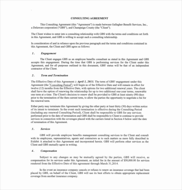 Free Consulting Agreement Template Lovely 19 Consulting Agreement Templates Docs Pages