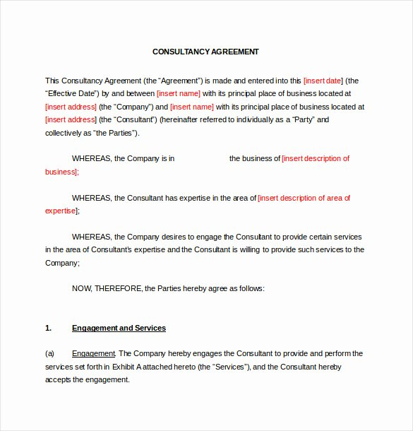 Free Consulting Agreement Template Luxury 19 Consulting Agreement Templates Docs Pages