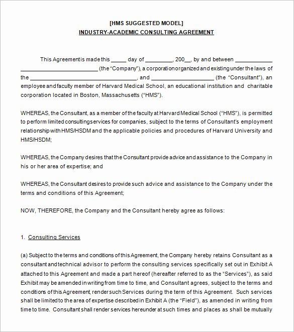 Free Consulting Agreement Template New Simple Consulting Agreement Template