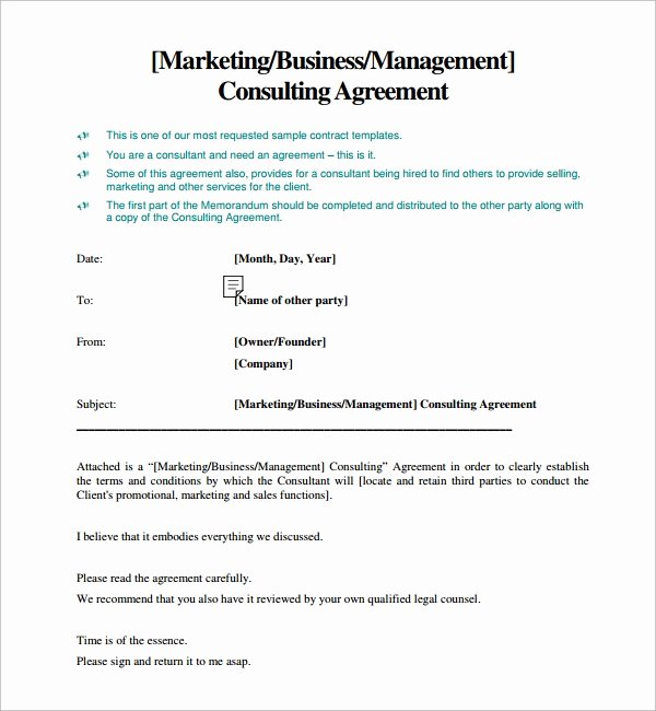 Free Consulting Agreement Template Unique Free 15 Sample Consulting Agreement Templates In Google