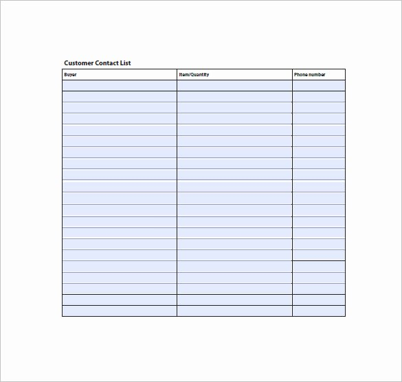 Free Contact List Template Lovely 10 Contact List Examples Pdf