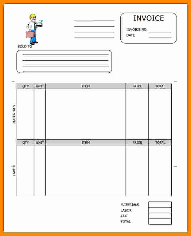 Free Contractor Invoice Template Beautiful 7 Free Construction Invoice Template