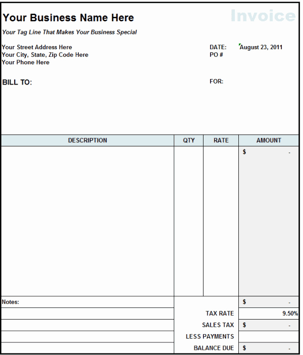 Free Contractor Invoice Template Best Of 9 Contractor Invoice Templates Word Excel Pdf formats