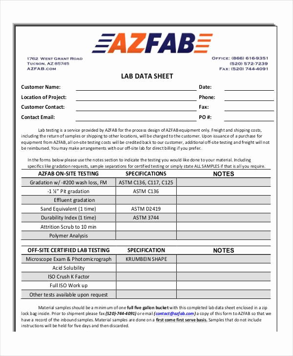 Free Data Sheet Template Best Of 26 Data Sheet Templates Free Sample Example format