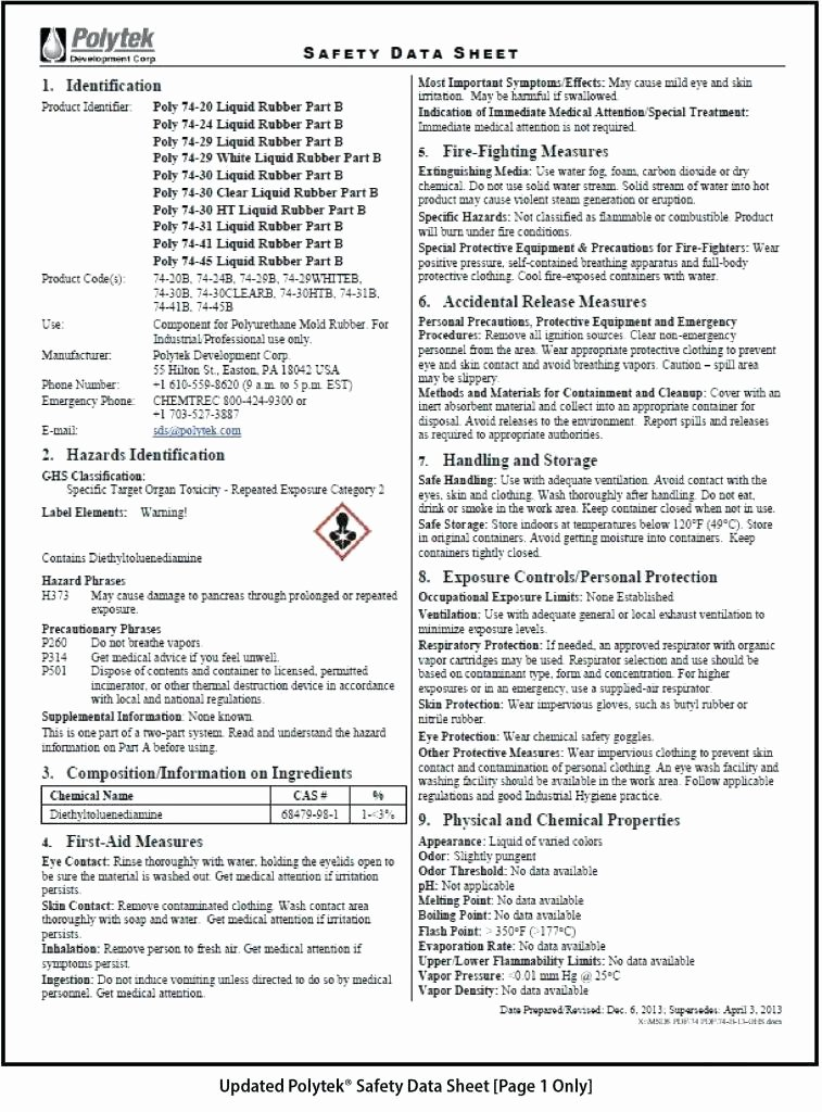 Free Data Sheet Template Best Of format Safety Data Sheet Word Template Tario Lung