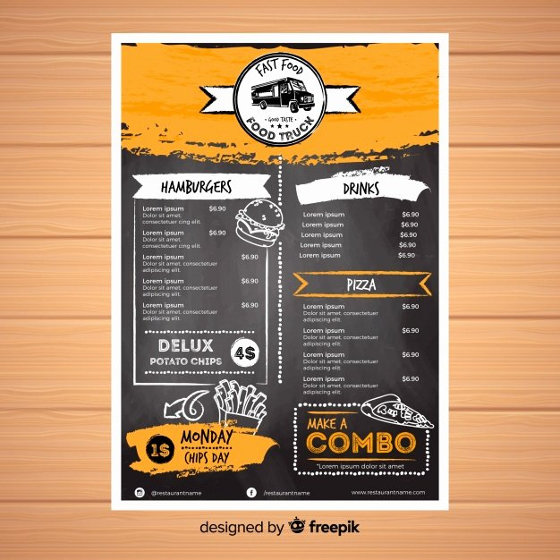 Free Dinner Menu Templates Awesome Menu Vectors S and Psd Files