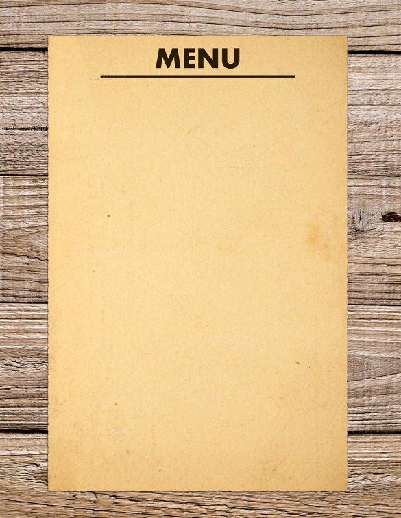Free Dinner Menu Templates Inspirational 37 Blank Menu Templates Pdf Ai Psd Docs Pages