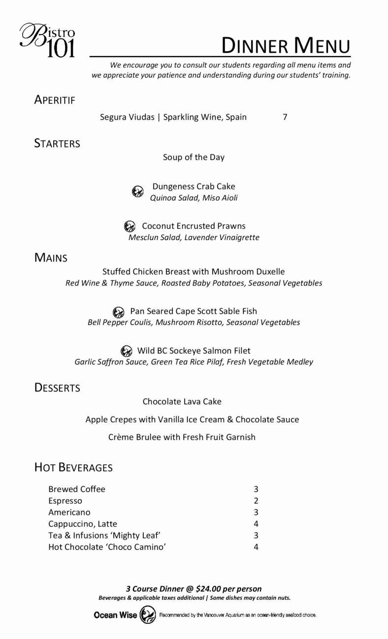 Free Dinner Menu Templates Inspirational 9 Menu Designs