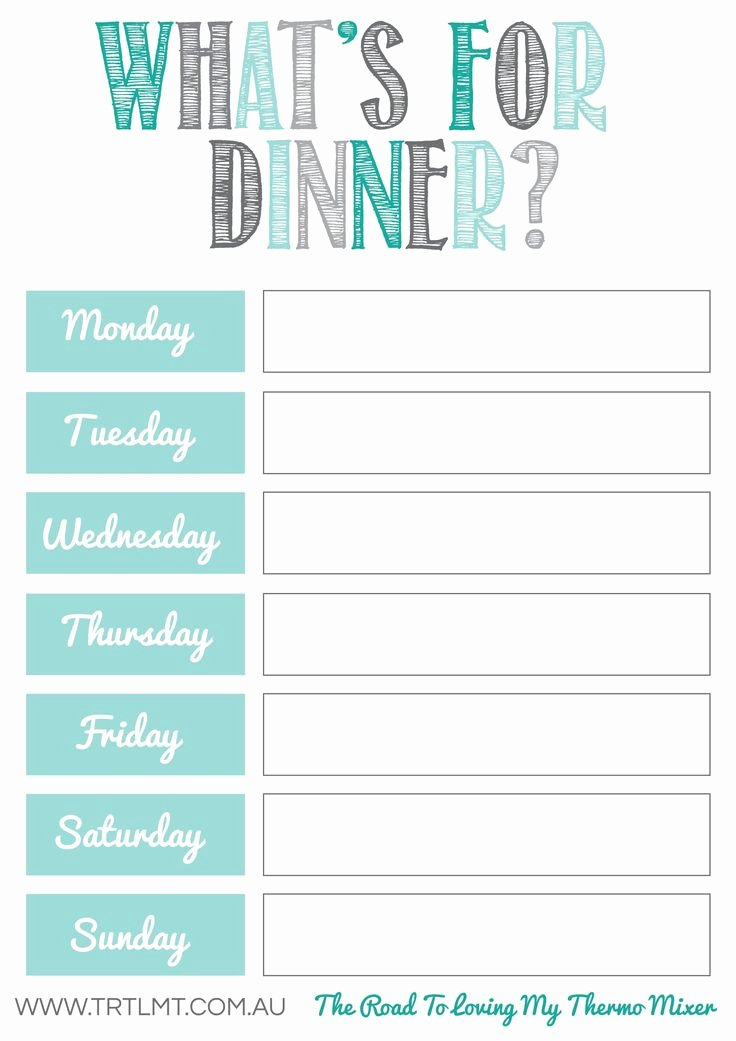 Free Dinner Menu Templates Luxury What S for Dinner 2 Fb organization