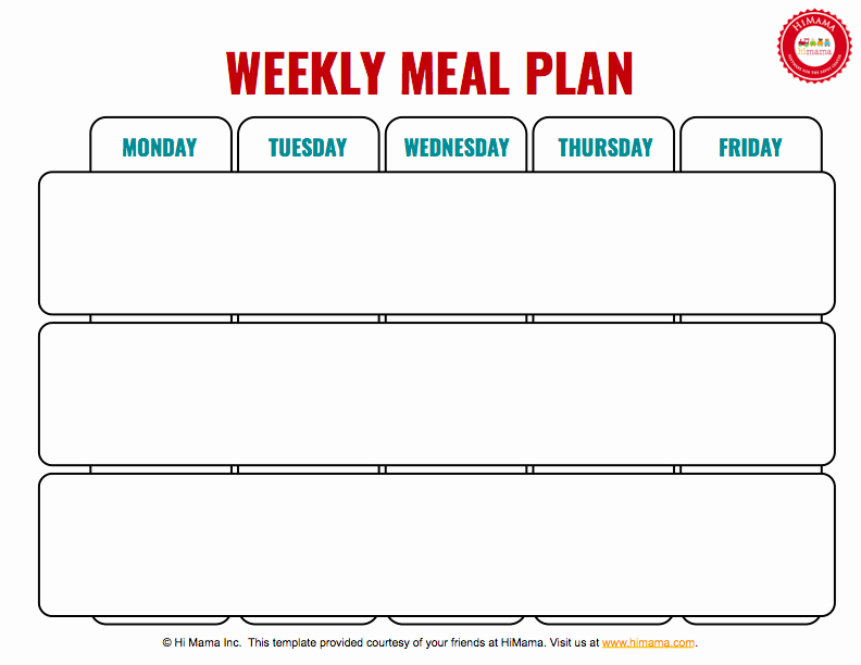 Free Dinner Menu Templates New Himama Daycare Menu Template Child Care Weekly Menu