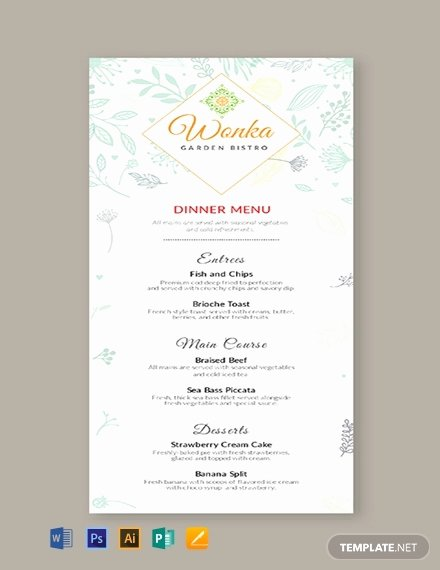 Free Dinner Menu Templates Unique 277 Free Menu Templates [download Ready Made Samples