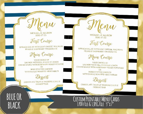 Free Dinner Party Menu Templates Beautiful 30 Dinner Menu Templates Psd Word Ai Illustrator