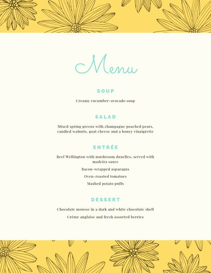 Free Dinner Party Menu Templates Beautiful Customize 197 Dinner Party Menu Templates Online Canva