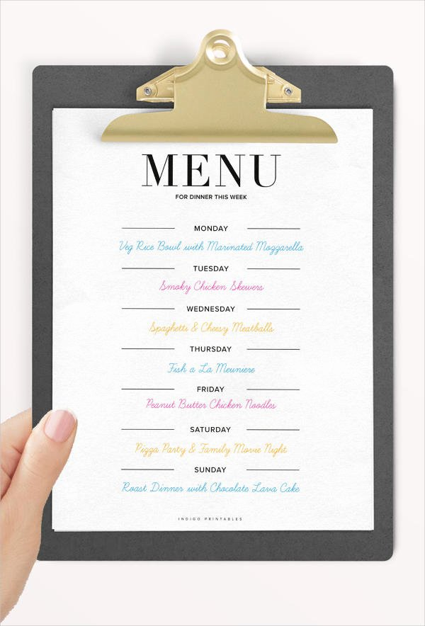 Free Dinner Party Menu Templates Elegant 8 Dinner Party Menu Templates Psd Ai