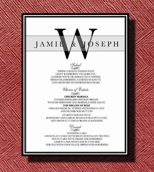 Free Dinner Party Menu Templates Elegant Dinner Menu Templates 35 Free Word Pdf Psd Eps