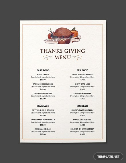 Free Dinner Party Menu Templates Fresh 65 Free Menu Templates Pdf Word Psd