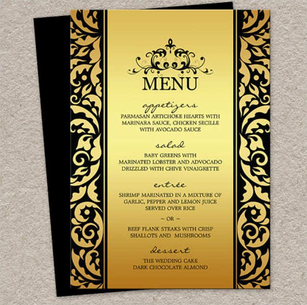 Free Dinner Party Menu Templates Fresh 9 Dinner Party Menu Templates Design Templates