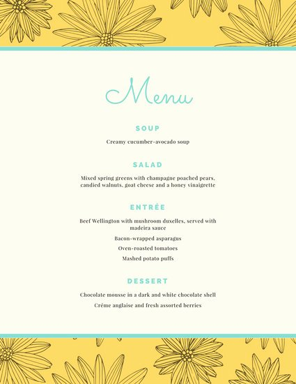 Free Dinner Party Menu Templates Fresh Customize 404 Dinner Party Menu Templates Online Canva