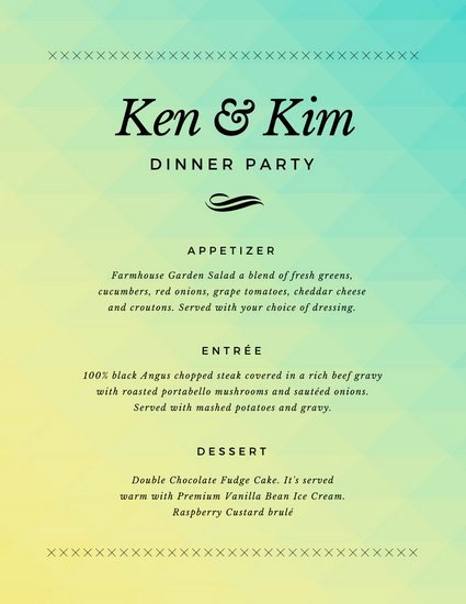 Free Dinner Party Menu Templates Inspirational Customize 404 Dinner Party Menu Templates Online Canva