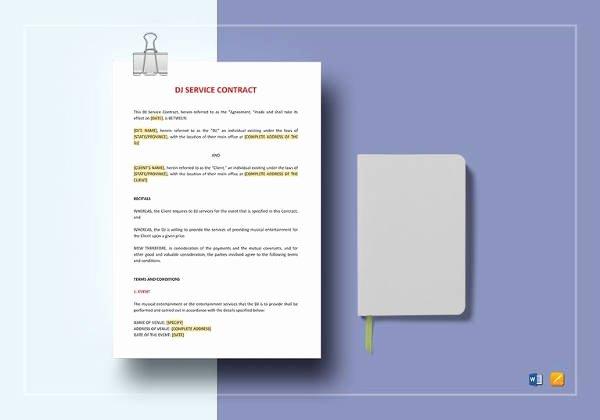 Free Dj Contract Template Fresh 16 Dj Contract Templates Pdf Word Google Docs Apple