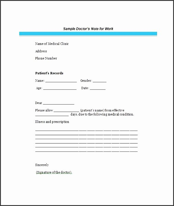 Free Doctor Excuse Template Best Of 7 Easy to Use Doctor Note Template Sampletemplatess