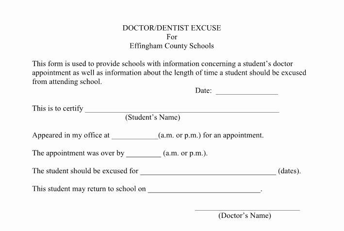 Free Doctor Excuse Template Unique 27 Free Doctor Note Excuse Templates Free Template