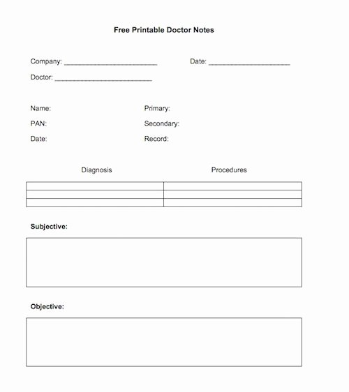 Free Doctor Excuse Templates Lovely Doctors Note Template Free