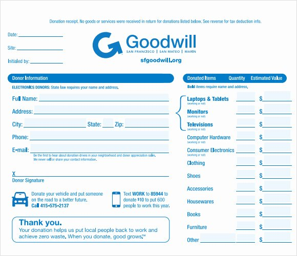 Free Donation Receipt Template Awesome 9 Donation Receipt Templates Free Samples Examples format
