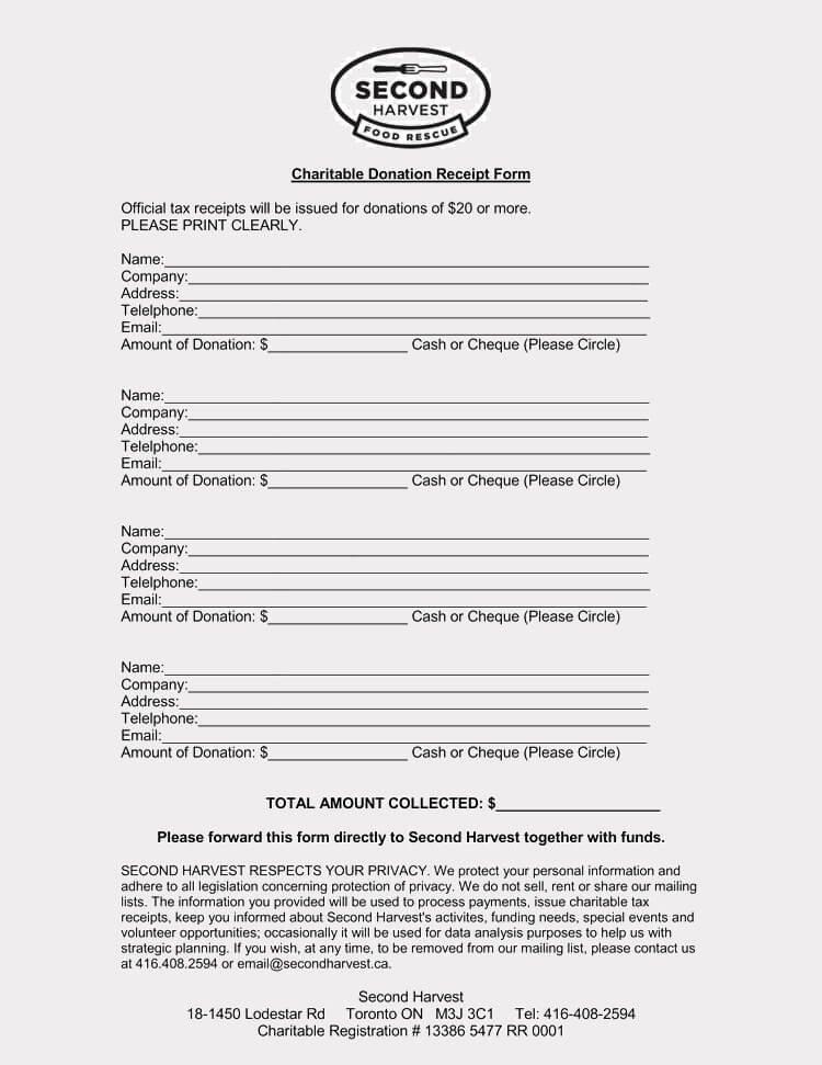 Free Donation Receipt Template Beautiful 45 Free Donation Receipt Templates & formats Docx Pdf