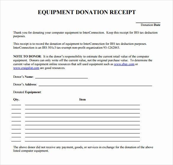 Free Donation Receipt Template Elegant Free 20 Donation Receipt Templates In Pdf